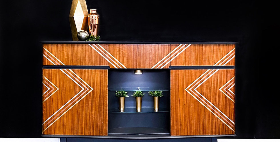 Megan MCM Drinks Cabinet Sideboard