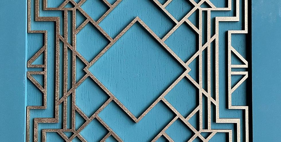 Deco Trellis Wooden Onlay