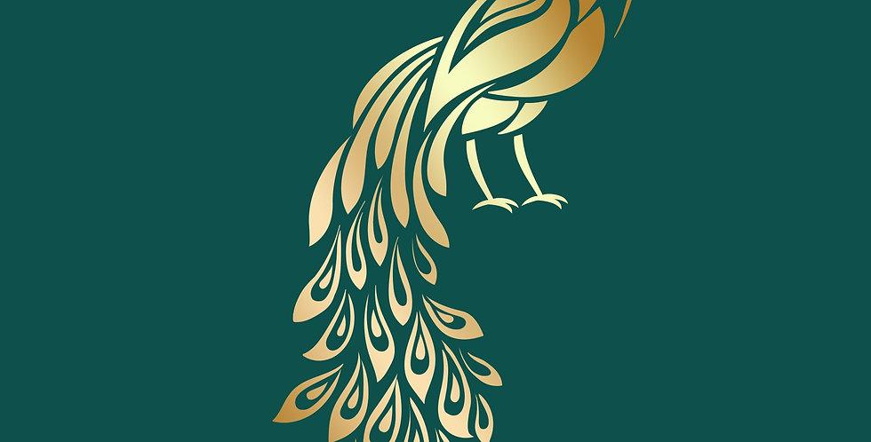 Lotus Collection Peacock Stencil
