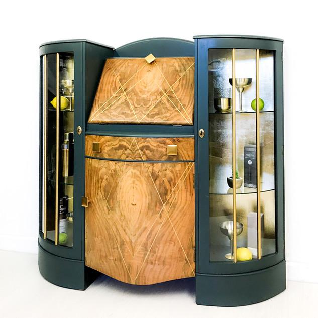 Vincent Art Deco Drinks Cabinet