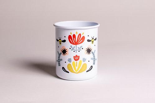 Floral | Tin Cup