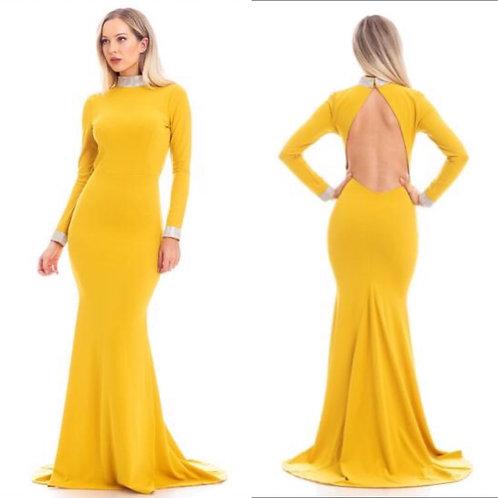 Rhinestone Mermaid Maxi Dress