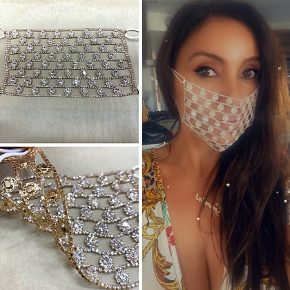 Gold Crystal Bubble Mask
