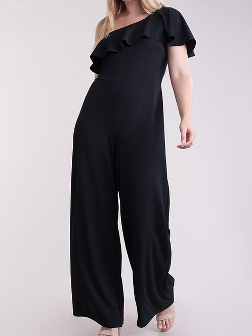 Off shouldered black jumpsuit