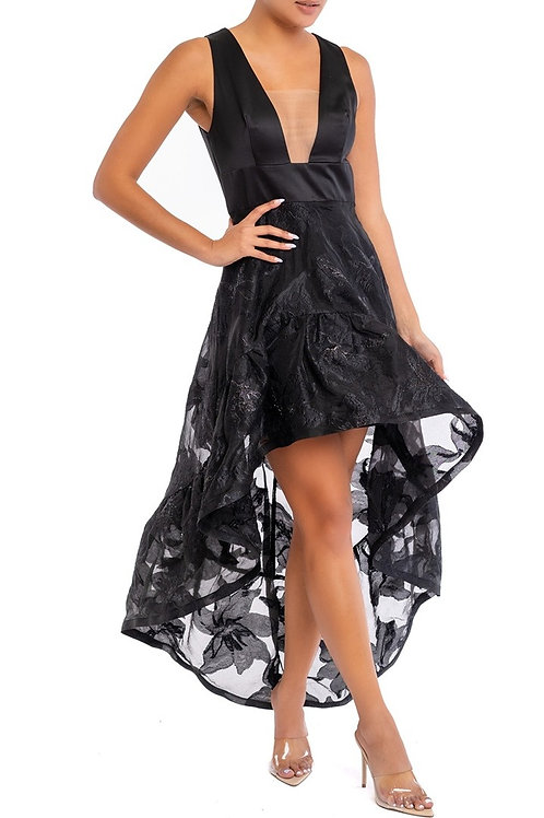 The High Low Black Lace Dress