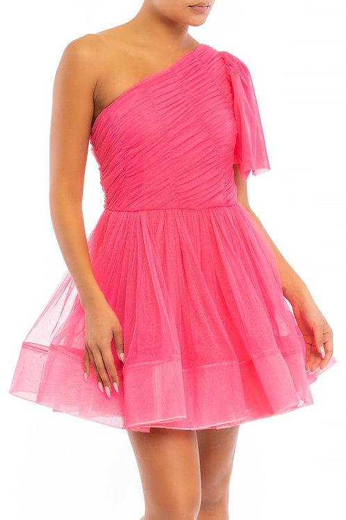 Mini Pink Tule Dress