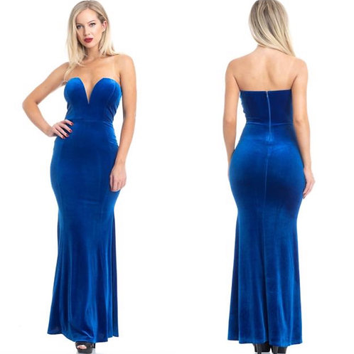 Velvet Blue Dress