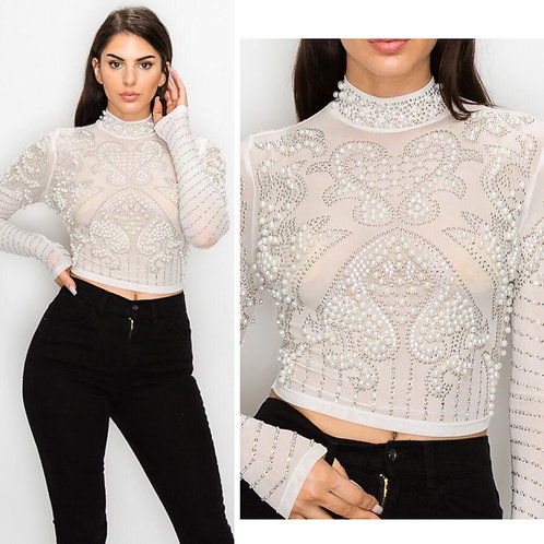 Gatsby Pearl Top