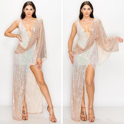 Rose Gold Drape Dress
