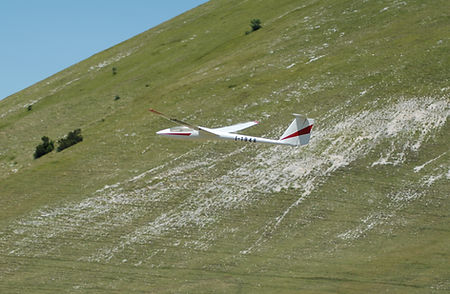 Schleicher Asw-22 sul Monte Cucco