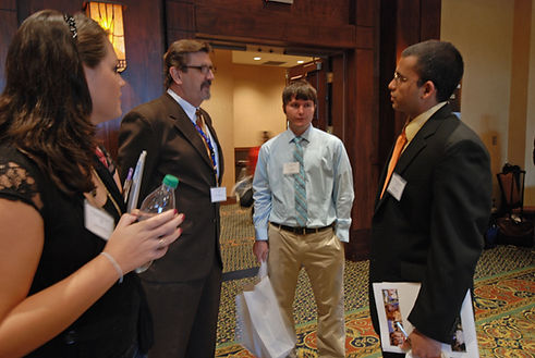 Dean Craig Lenz with Students at Residen