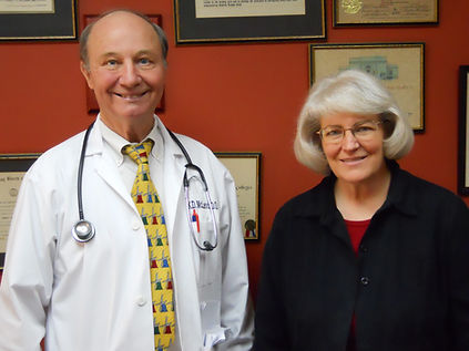 Dr. McLeod and Pam Miller for Annual Rep