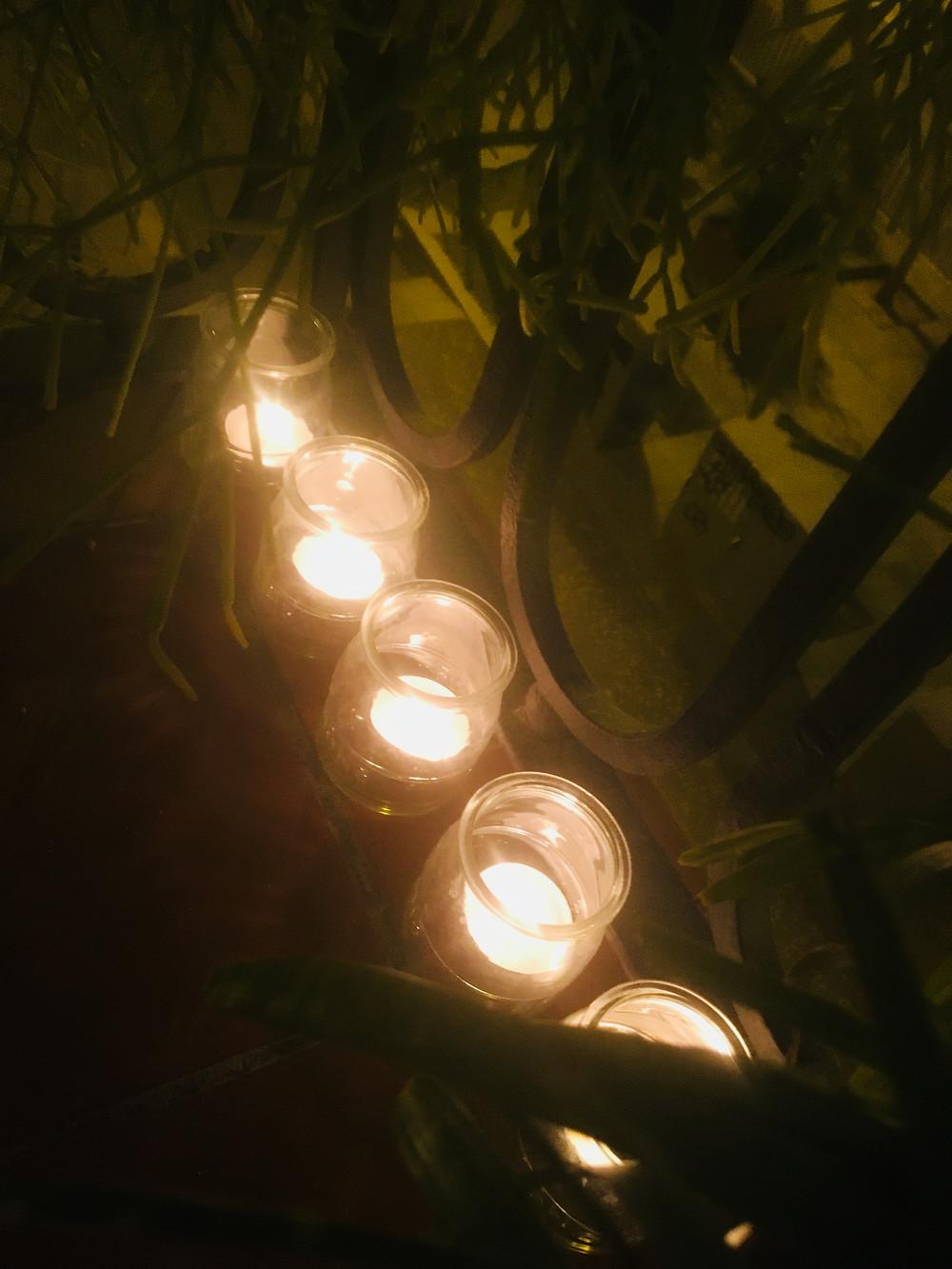 Five candles to mark five days of Coronavirus lockdown in Barcelona
