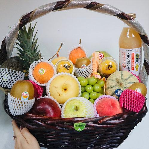 Deluxe Mid-Autumn Sparkling Fruit Basket