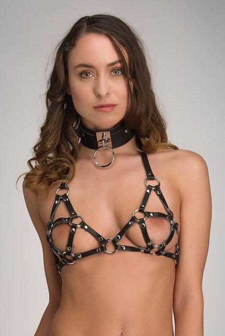 Leren bondage halsband – Eternity