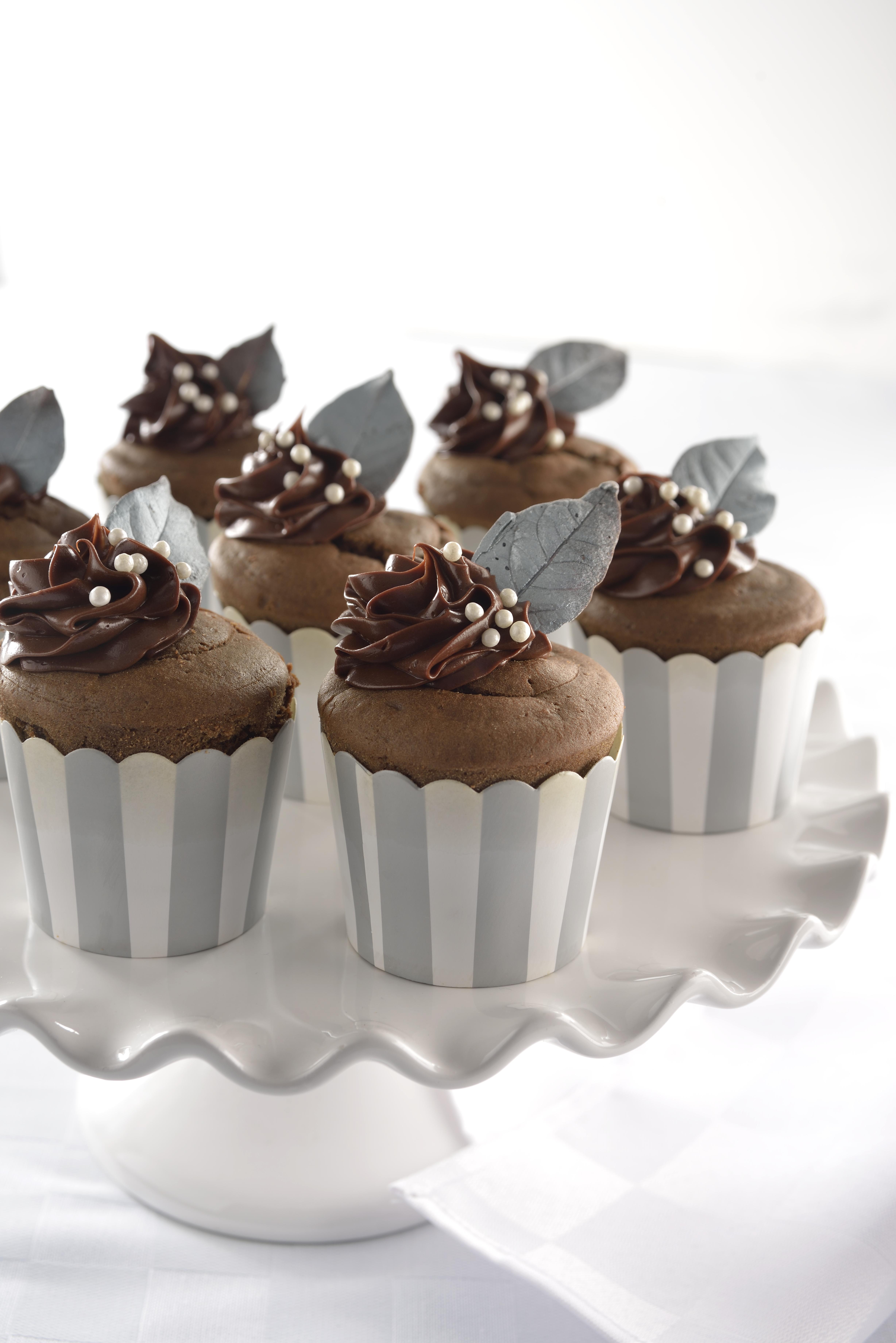 cupcakes de chocolate