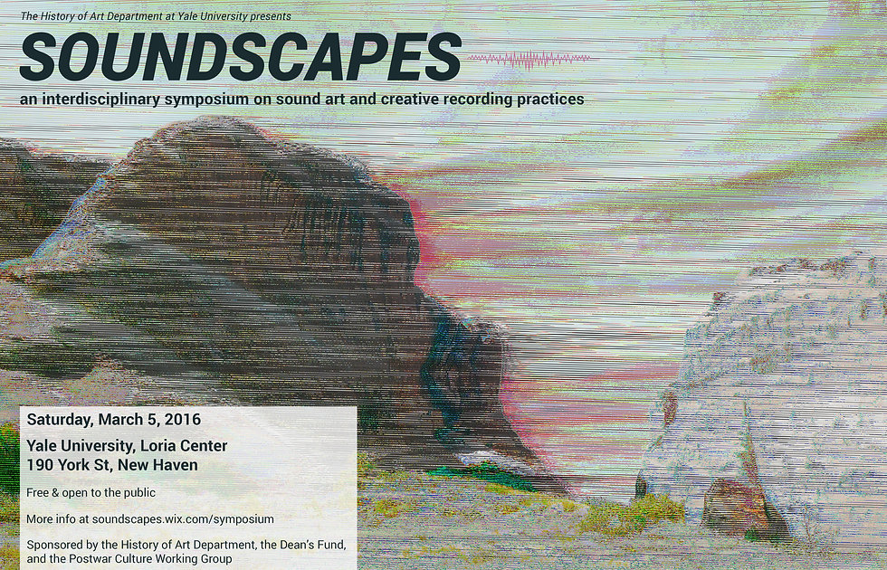 Poster for Soundscapes Symposium