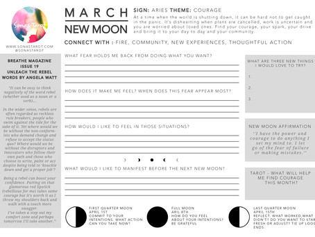 March New Moon Free Worksheet