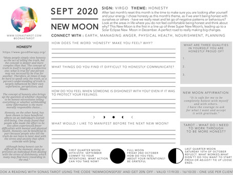 Free September New Moon Worksheet