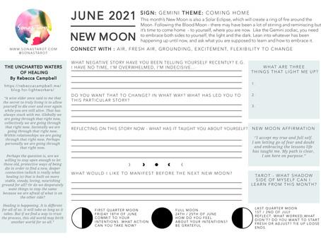 Free New Moon in Gemini Worksheet - June 2021