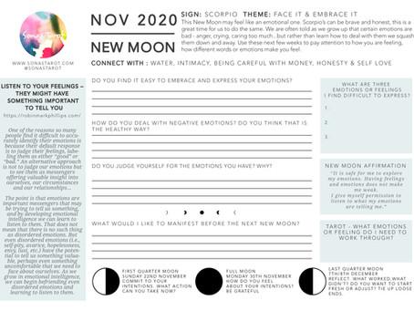 Free November New Moon Worksheet - Scorpio