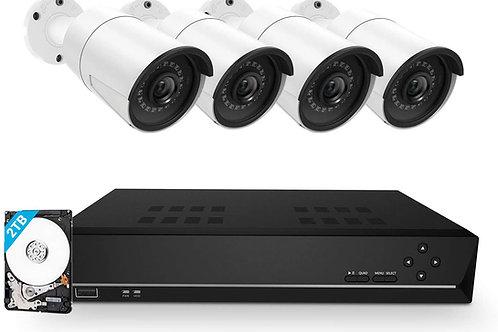 Kit Caméra Surveillance PoE avec 4 caméras