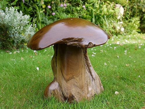 Sculpture en bois champignon