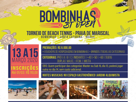 Torneio de Beach Tennis acontecerá em Bombinhas nos dias 13,14 e 15 de março em Mariscal