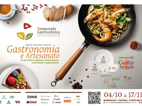 Temporada Gastronômica Costa Esmeralda reunirá mais de 40 restaurantes