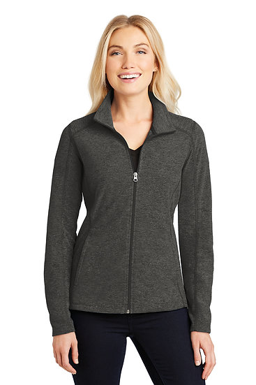 Ladies-Full Zip Micro Fleece-Charcoal-FOH