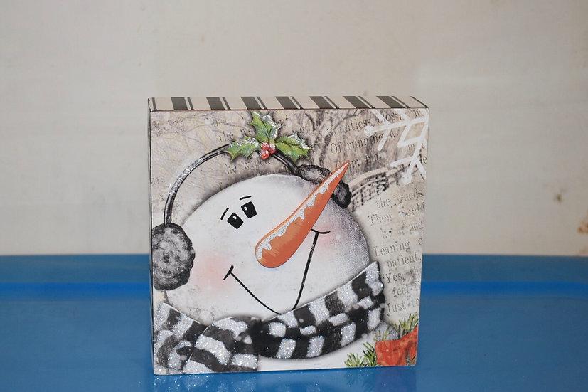 Snowman Cube Decor