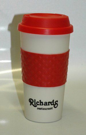 Color Banded Classic Coffee Cup - 16 oz.