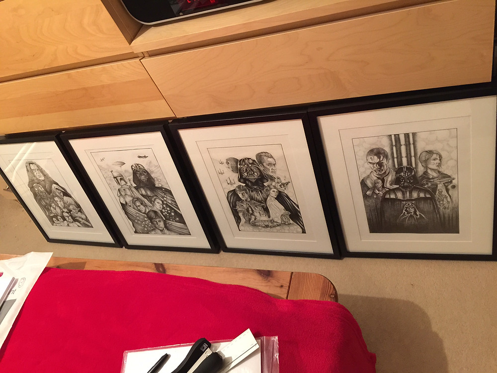 IGABFAT:  A3 originals framed and ready to go.