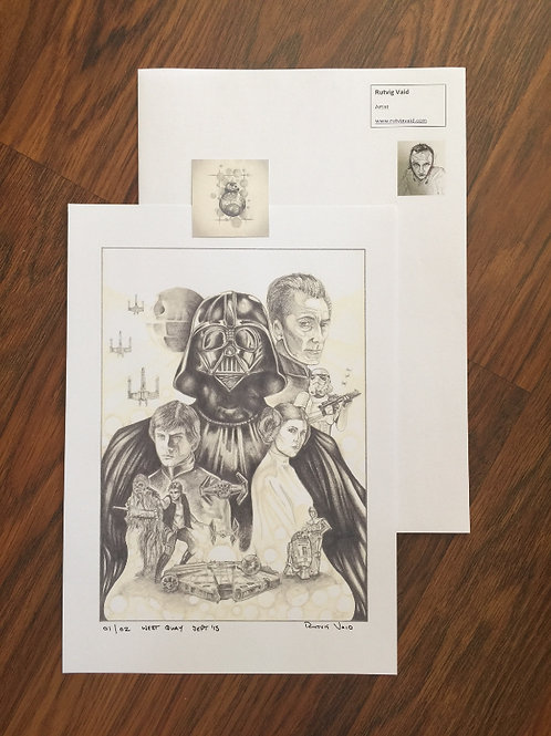 Star Wars:  The Original Trilogy A4 Print 2 ONLY