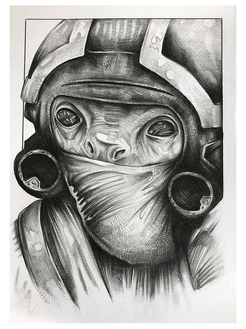 Star Wars - Mr. Toowers A4 Graphite Drawing