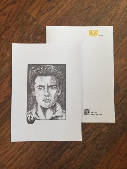 Star Wars: TFA Poe Dameron A4 Print