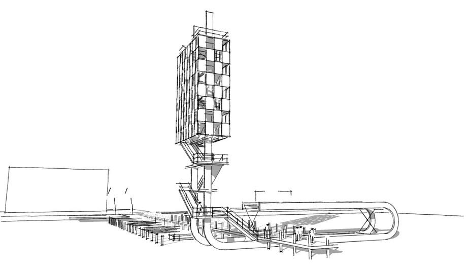Solarturm Entwurf