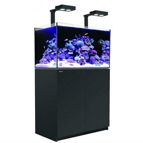 Reefer DELUXE 250 - 65 Gallon Aquarium Black w/Two Hydra 26 HD LED - Red Sea