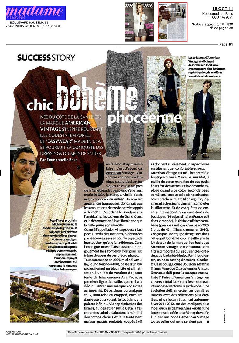 Madame Figaro - Octobre 2011