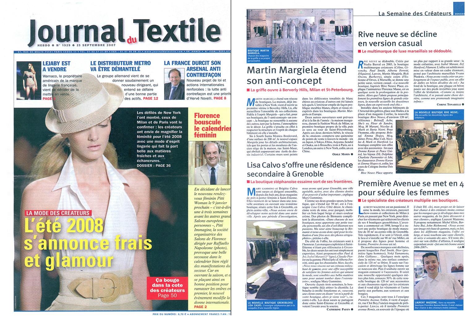 Journal du textile - Septembre 2007