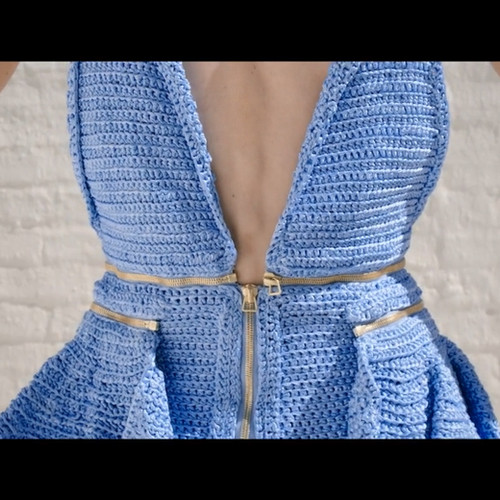 Mid Blue Crochet {LIMITED}