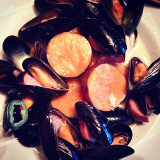 Mussels in creamed soup
