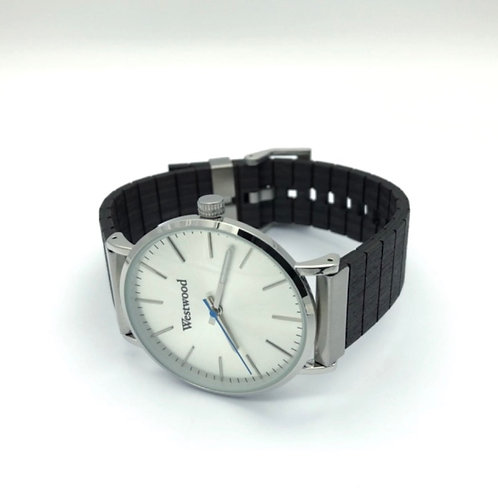Basic Watch Wood Strap Black/White