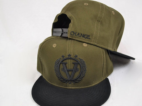 TEAMCHANGE Snapback Navy Green/Black