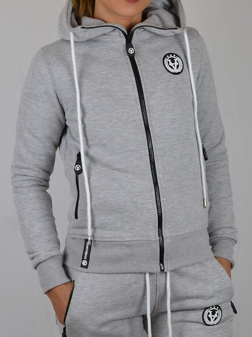 Ladies Zipper Ultra Fitted Cloudy Grey