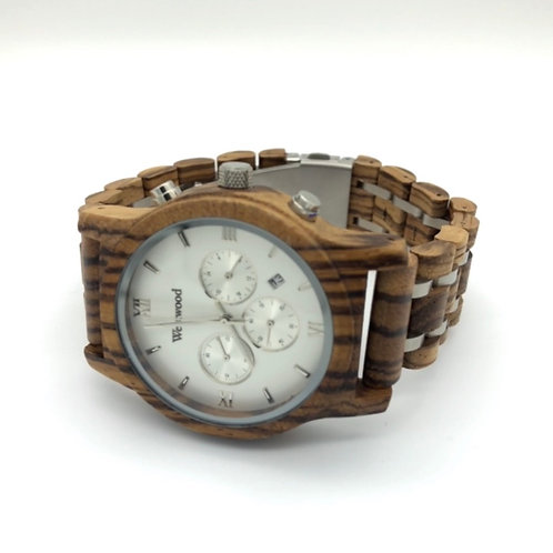 Ice Men Watch Wood - Metal Strap