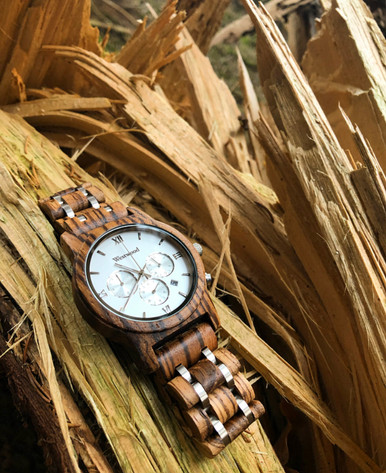 Männeruhr Holz