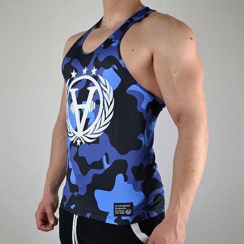 Military Camouflage Stringer Blue