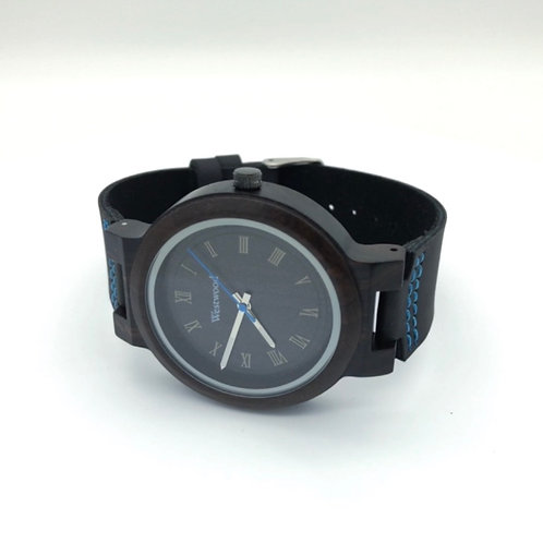 Water and Earth Watch Wood - Leather