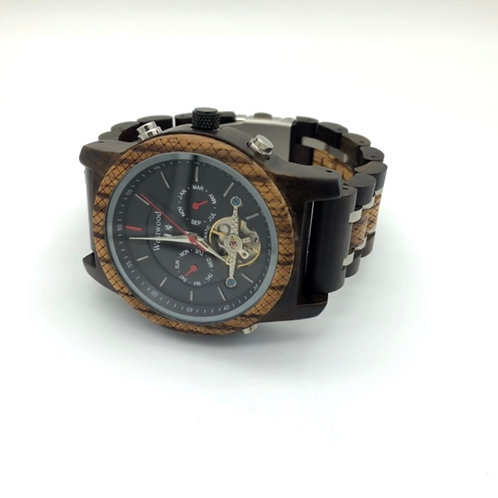 ''Los Angeles'' Watch Automatic Wood - Metal
